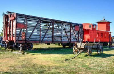 Western Wagon Train Poster by Mel Steinhauer