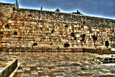 Poster featuring the photograph Western Wall In Israel by Doc Braham