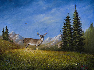 Western Whitetail Poster by C Steele
