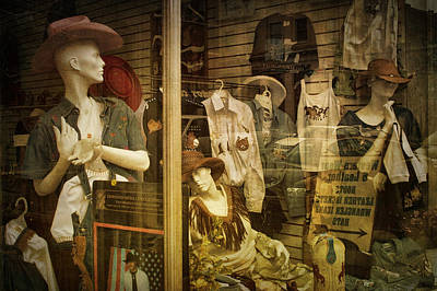 Western Window Display In Nashville Tennessee Poster by Randall Nyhof