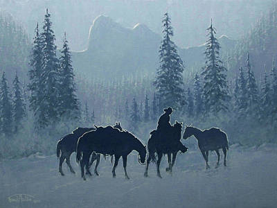 Western Winter Poster by Randy Follis