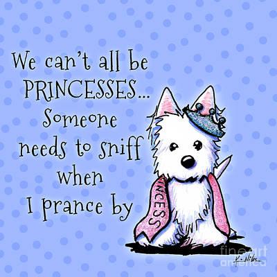 Westie Princess Poster by Kim Niles