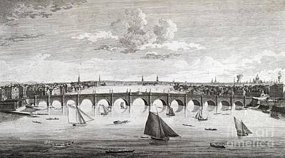 Westminster Bridge, London, Poster by British Library