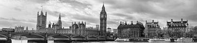 Westminster Panorama Poster by Heather Applegate