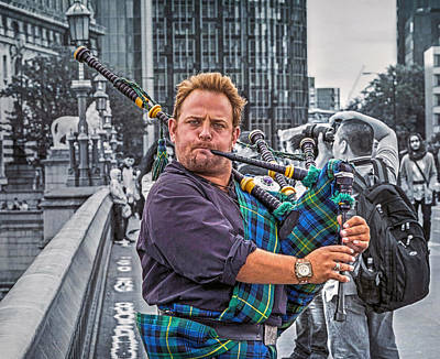 Westminster Piper Poster by Keith Armstrong