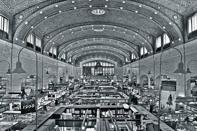 Westside Market Grayscale Poster by Frozen in Time Fine Art Photography