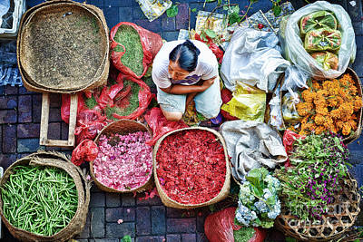 Poster featuring the photograph Wet Market In Ubud by Yew Kwang