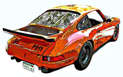 Wet Paint Porsche Sp911 Poster
