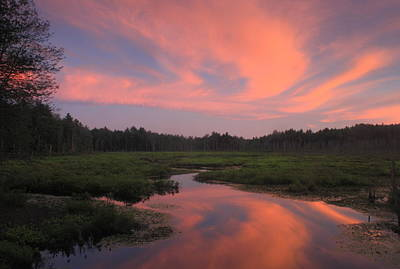 Wetland Sunset  Poster by John Burk