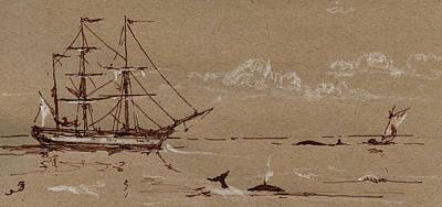 Whaler Ship Frigate Poster