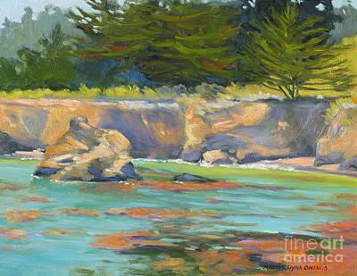 Whalers Cove Point Lobos Poster by Rhett Regina Owings