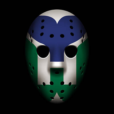Whalers Goalie Mask Poster