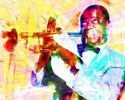 What A Wonderful World Louis Armstrong 20141218wcstyle Poster by Wingsdomain Art and Photography