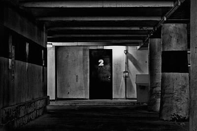 What Is Behind Door Number Two Poster by Karol Livote