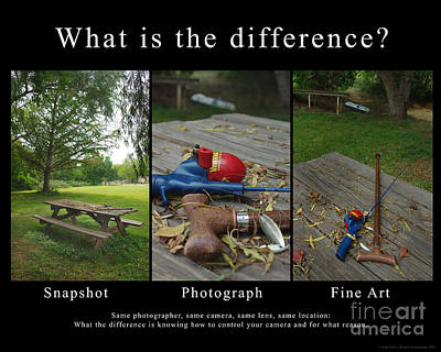 What Is The Difference Poster by Peter Piatt