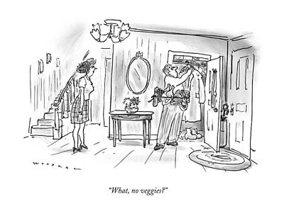 What, No Veggies? Poster by Bill Woodman