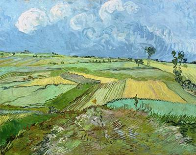 Wheat Fields After The Rain Poster by Vincent van Gogh