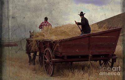Wheat Wagon Poster by Sharon Elliott