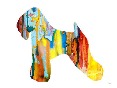 Wheaten Terrier 3 Poster by Watercolor Girl