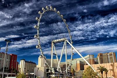 Wheel In The Sky Las Vegas Poster by Michael Rogers