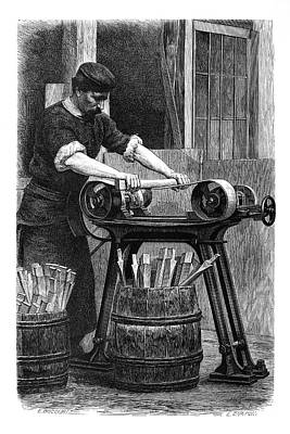Wheel Manufacturing Poster by Science Photo Library