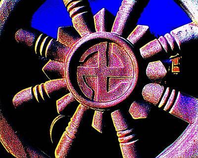 Buddhist Dharma Wheel 1 Poster by Peter Gumaer Ogden