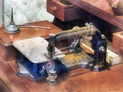 Wheeler And Wilson Sewing Machine Circa 1850 Poster by Susan Savad