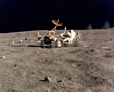 Wheelie On The Moon Poster
