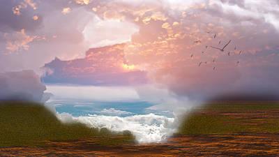 When Heaven Breaks - Surrealism Poster