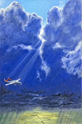 Poster featuring the painting Where Angels Sing by Karen Wilson