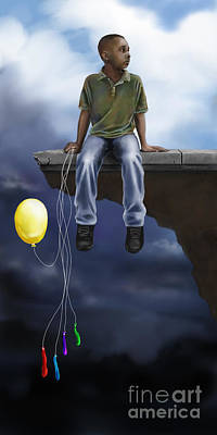 Poster featuring the digital art Where The Sidewalk Ends by Dwayne Glapion