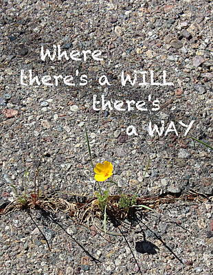 Where There's A Will There's A Way Poster by Kume Bryant