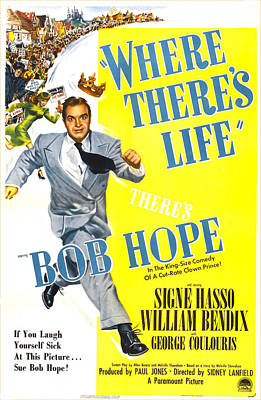 Where Theres Life, Us Poster, Bob Hope Poster by Everett