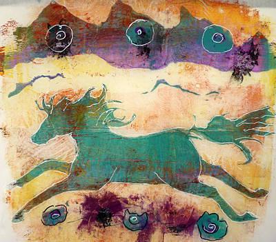 Where Wild Horses Roam Poster by P Maure Bausch