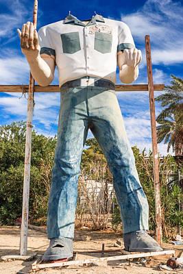 Whered It Go Muffler Man Statue Poster by Scott Campbell