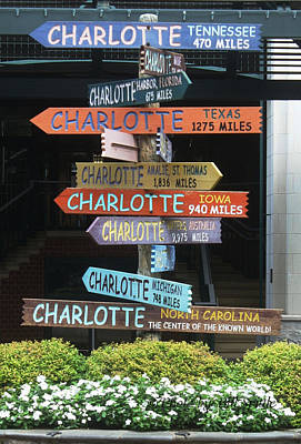 Which Way Is Charlotte Poster by Bill Spittle