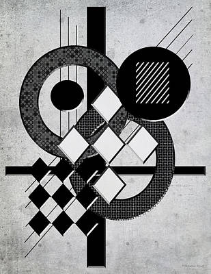 Which Way Is Up - Black And White Poster by Shawna Rowe