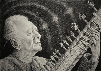 While My Sitar Gently Weeps Poster