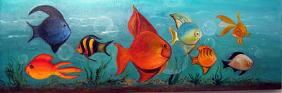 Whimsical Fish Poster by Darla Freeman