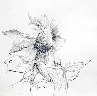 Whimsical Sunflower  Poster