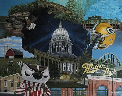 Whirlwind Around Wisconsin Poster by Rick Yanke