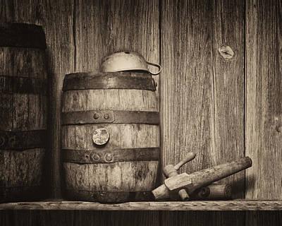 Whiskey Barrel Still Life Poster by Tom Mc Nemar