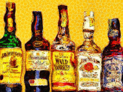 Whiskeys Inspired By Van Gogh 20140917 Poster by Wingsdomain Art and Photography