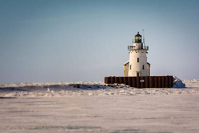 Whisky Island Lighthouse In Winter Poster