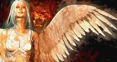 Whisper Between Heaven And Hell Poster by Bob Orsillo