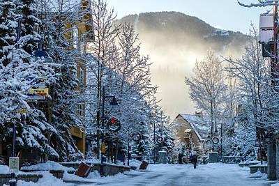 Whistler Village On A Sunny Winter Day Poster by Pierre Leclerc Photography