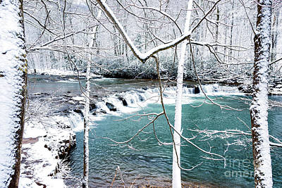 Whitaker Falls In Winter Poster