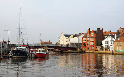 Whitby Harbour Poster by Jane McIlroy
