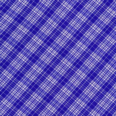 White And Blue Plaid Fabric Background Poster by Keith Webber Jr