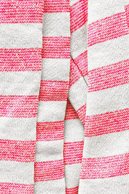 White And Pink Stripes Poster